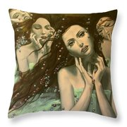 Glissando Throw Pillow by Dorina  Costras