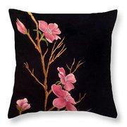 Glistening Blossoms Throw Pillow