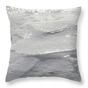 Glistening Layers Throw Pillow