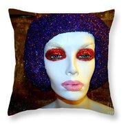 Glitter Gal Throw Pillow