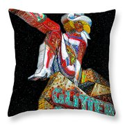 Glitter Gulch Girl Throw Pillow