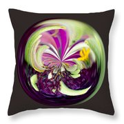 Global Beauty Throw Pillow
