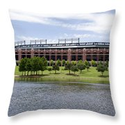 Globe Life Park Throw Pillow