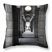 Globe Lines Throw Pillow