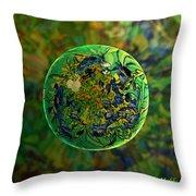 Globing Earth Irises Throw Pillow