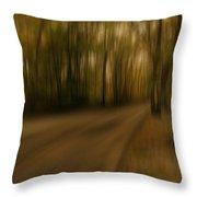 Gloomy Autumn Throw Pillow