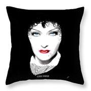 Gloria Swanson - Edith Piaf Throw Pillow