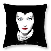 Gloria Swanson Malefica Throw Pillow