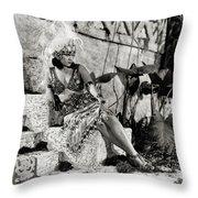 Gloria Swanson - My American Wife Throw Pillow