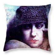 Gloria Swanson Oil Throw Pillow