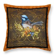 Glorious Birds-b2 Throw Pillow