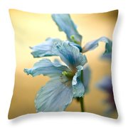 Glorious Blue Throw Pillow
