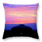 Glorious Boston Sunrise Throw Pillow