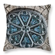 Glorious Church Stained Glass Throw Pillow