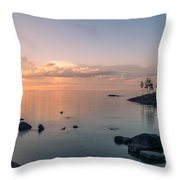 Glorious End Of The Day. Valaam. Northern Russia Throw Pillow