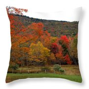 Glorious Fall Leaves Throw Pillow