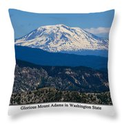 Glorious Mount Adams Throw Pillow