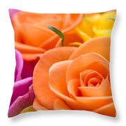 Glorious Roses Throw Pillow