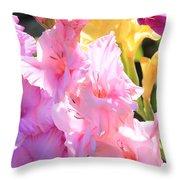 Glorious Summer Gladiolus Throw Pillow