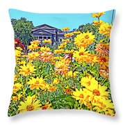 Glorious Yellow And The Franklin Throw Pillow