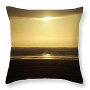 Glory At Ocean Shores Throw Pillow