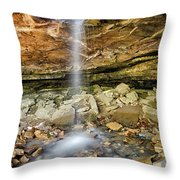 Glory Hole Waterfall Portrait Throw Pillow