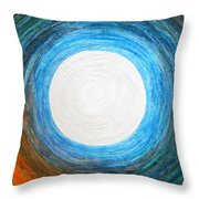 Glory Of The Moon At Dawn Throw Pillow