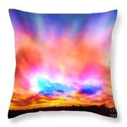 Glory Sunset Throw Pillow