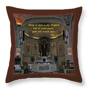 Glory To God In The Highest Throw Pillow