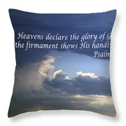 Glory To God   Psalm 10 1 Throw Pillow