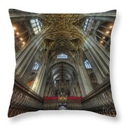 Gloucester Cathedral 2.0 Throw Pillow