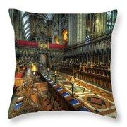 Gloucester Cathedral Choir Throw Pillow