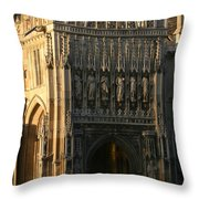 Gloucester Cathedral Entrance Throw Pillow