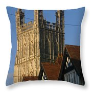 Gloucester Cathedral Spire Throw Pillow