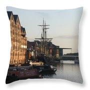 Gloucester Docks 1 Throw Pillow