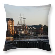 Gloucester Docks 3 Throw Pillow
