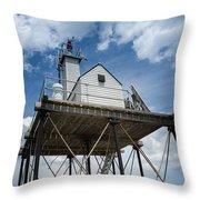 Gloucester Harbor Beacon Station Throw Pillow