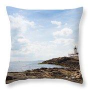 Gloucester Lighthouse Throw Pillow