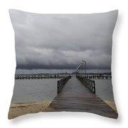Gloucester Point Pier Throw Pillow