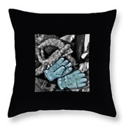 Gloves And Frost Throw Pillow