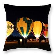 Glow At Night Throw Pillow