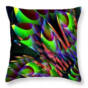 Glow In The Dark Abstract Throw Pillow