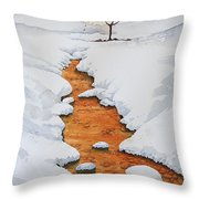 Glow In The Snow Throw Pillow