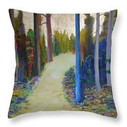 Glow Of Spring Throw Pillow