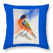 Da188 Glow Of The Painted Bunting Daniel Adams Throw Pillow