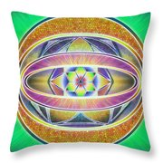 Glow Sphere Delta Throw Pillow by Derek Gedney