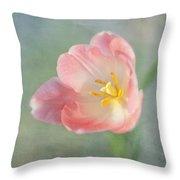 Glow Within-pink Tulip Throw Pillow