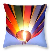 Glowing Balloon Throw Pillow
