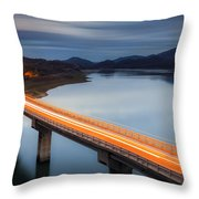 Glowing Bridge Throw Pillow by Evgeni Dinev