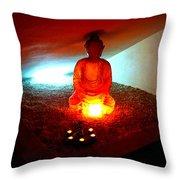 Glowing Buddha Throw Pillow